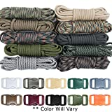 West Coast Paracord Survival Paracord Combo Crafting Kit with 10 Colors of 500lb Cord and 10 Buckles - Zesty Camo