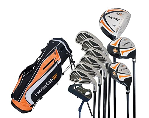The Judge Founders Club Complete Golf Set with Graphite Regular Flex Shafts and Stand Bag