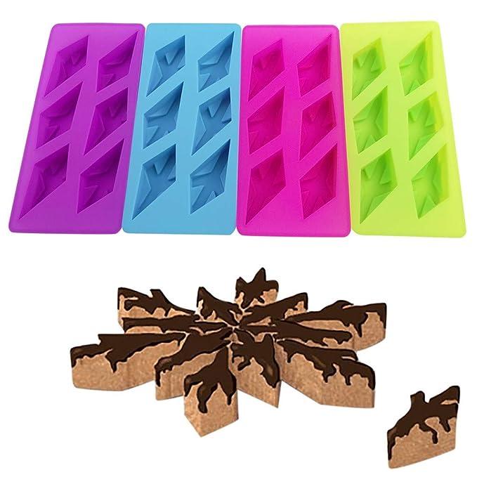 Yaohxu Moldes de silicón,Diamond Snowflake Silicona Cake Molde Muffin Chocolate Cookie Hornear Molde Decoración,Azul,tamaño libre: Amazon.es: Ropa y ...