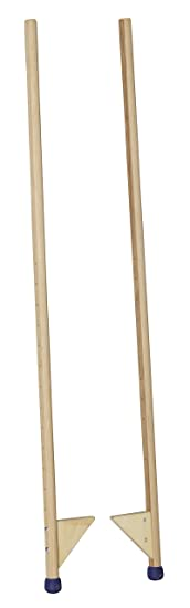 pedalo Stelzen 140 cm I 120 kg belastbar I Profi-Stelze I Antirutsch Holzstelzen I Kinder bis Erwachsene