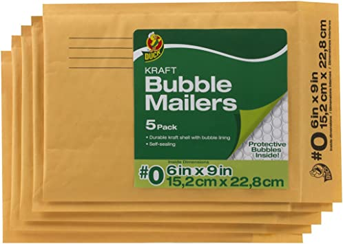 Kraft Bubble Mailers 6x9 6x10 Large Padded Self Sealing Manilla Envelope 25 Pack