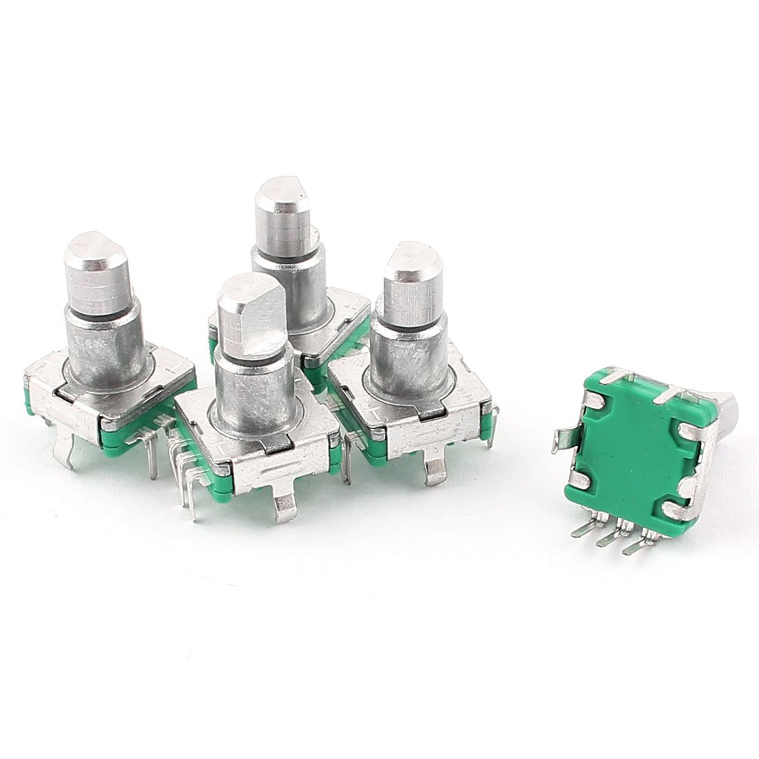 Uxcell Rotary Encoder Push Button Switch Key Switch Components, 6 mm,  5 Pieces