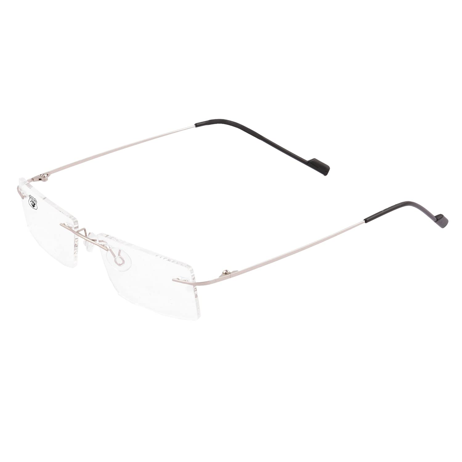 6c9cc53bb1 Royal Son Rimless Rectangular Spectacle Frame For Men And Women  (RS0110ER
