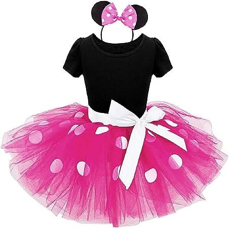 Fuxia - talla 90-2 años - vestido - disfraz - minnie - mouse ...