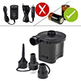 OBEST Electric Pumps Battery Powered Air Pump Quick Inflator and Deflator for Air Beds Toys Lilos Pools (4 D Battery, Not Included)
