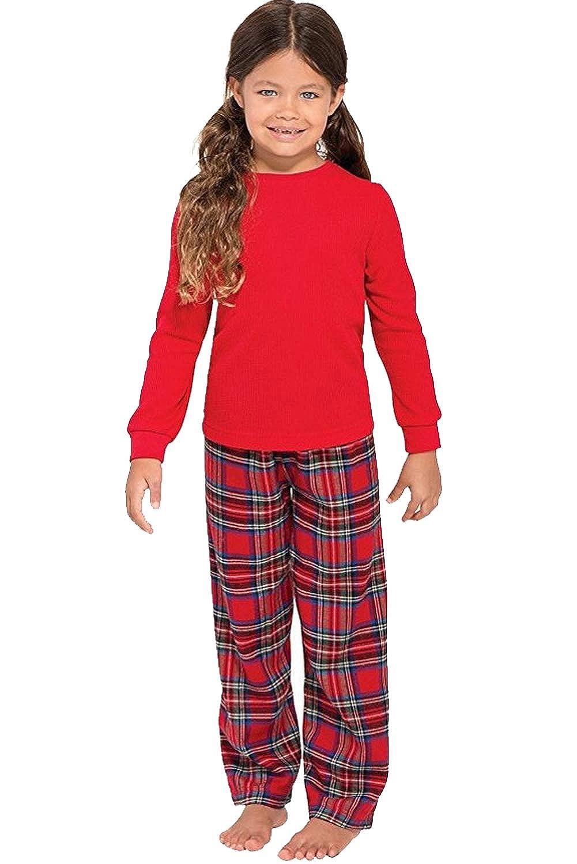 Famiglia Pigiama a Quadri Retro Tartan Style Tuta Natale Travestimenti Pajamas Set Xmas Sleepwear Costumi da Notte Due Pezzi Pantaloni e Felpa Girocollo Manica Lunga per Mamma pap/à Neonato Bambino