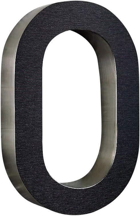 1 1 Hausnummer 3D Edelstahl V2A diamant anthrazit ITC Bauhaus Design rostfrei witterungsbest/ändig 20cm Hoch 0 1 2 3 4 5 6 7 8 9 a b c d erh/ältlich