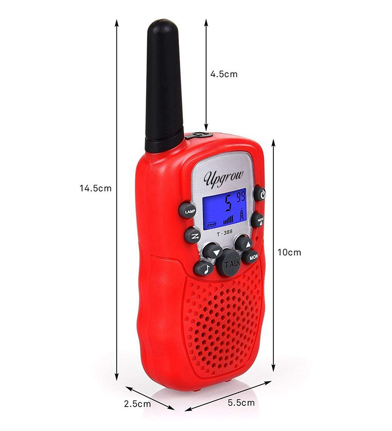 Upgrow Kids Walkie Talkies 22 Channel 0.5W FRS//GMRS Two Way Radios Long Range Walky Talky Handheld Walkie Talkie with LED Flashlight for Children Boys Girls Red