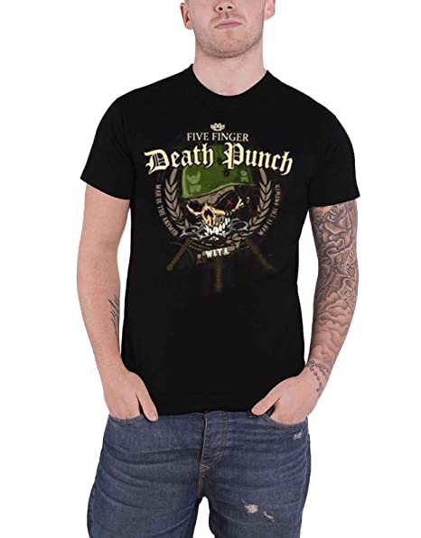 Five Finger Death Punch Mens T-Shirt War Head