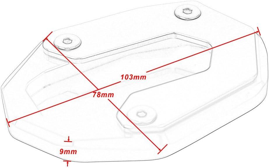 Accessoires de Moto en Aluminium CNC Plaque dagrandissement de B/équille Lat/érale Pad de B/équille Pour Ducati Scrambler 800 2014-2018 Or