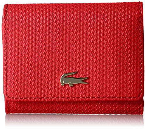 SMALL TRIFOLD WALLET, NF2252CE Wallet, HIGH RISK RED, One Size by Lacoste