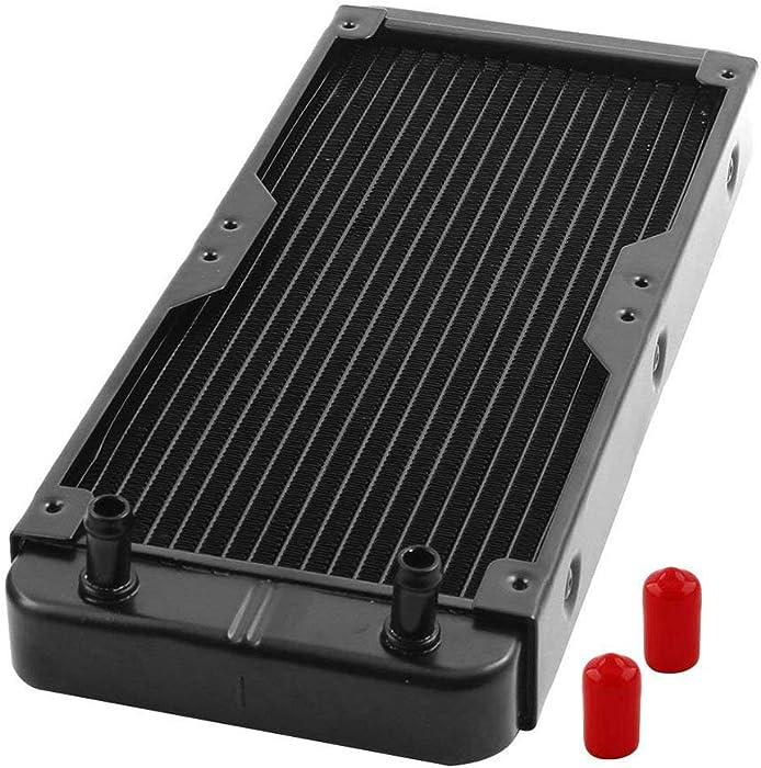 tatoko Aluminum Computer CPU 18 Pipes Water Cooling Heat Exchanger Radiator 270mm Long Black