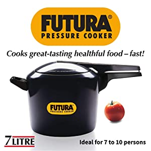 FUTURA 7 LITTERS PRESSURE COOKER (BLACK COLOR)