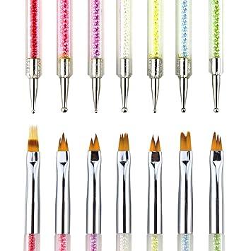 Amazon.com : NMKL38 7PCS Gel Ombre Nail Design Brushes, Nail Art ...