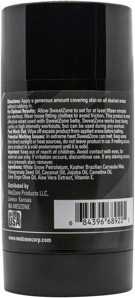 SweatZone Sweat Waist Trimmer Gel - Sweat Gel Slimming Cream - Sweat Stick for Women and Men 2 oz: Health & Personal Care