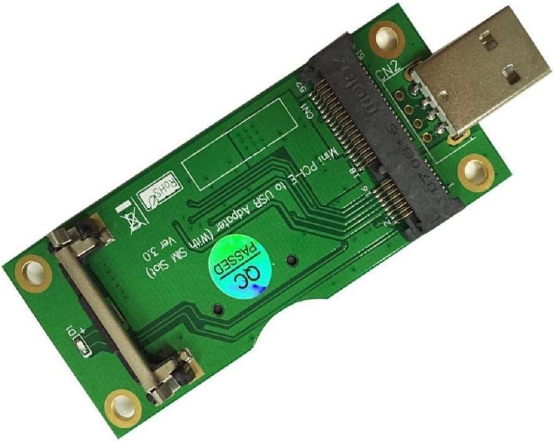 Powerday Mini PCI-E a USB adaptador con ranura para tarjeta SIM para módulo WWAN/LTE