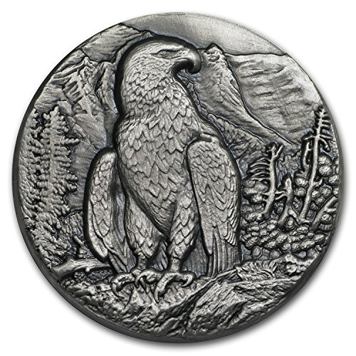 2016 CH Niue 1 oz Silver Swiss Wildlife High Relief Golden Eagle 1 OZ Brilliant Uncirculated ()