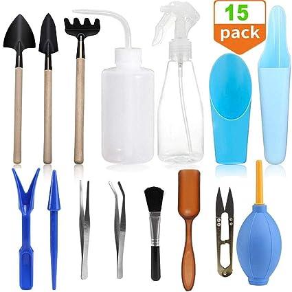 Amazon.com: Wesdxc - Juego de 15 herramientas de plantas ...