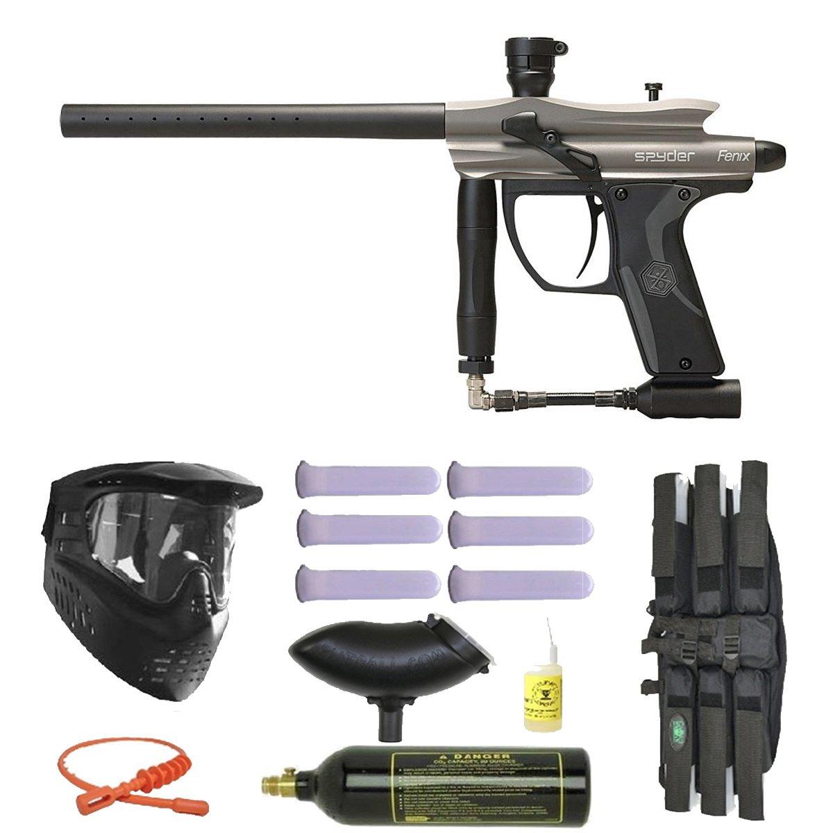 2012 Spyder Fenix Electronic Paintball Gun 3skull Mega Integrated Circuits Popscreen Set Diamond Black Sports Outdoors