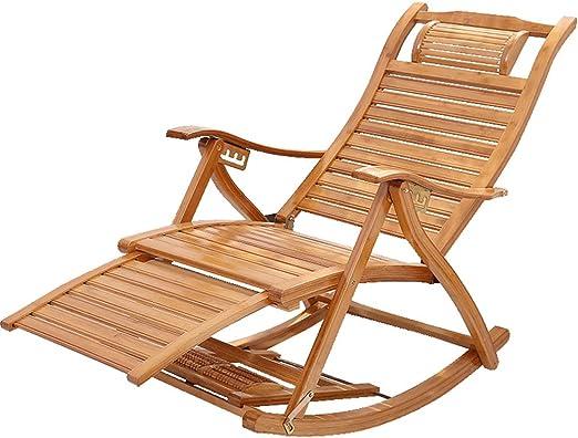 Silla de jardín reclinable Silla reclinable de Exterior Silla reclinable de Madera Silla Mecedora Tumbonas Tumbonas Ajustables Tumbona Plegable para Piscina: Amazon.es: Hogar