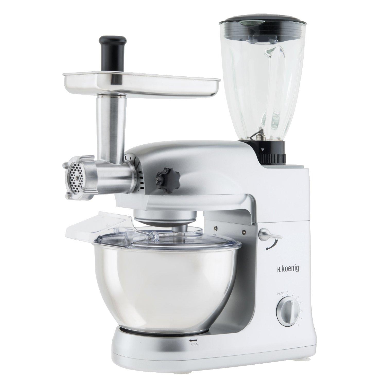H.Koenig KM78 - Robot de cocina multifunción, batidora amasadora, 1000 W, 5 l: Amazon.es: Hogar