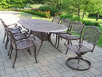 amazon com oakland living mississippi cast aluminum 82 by 42 inch