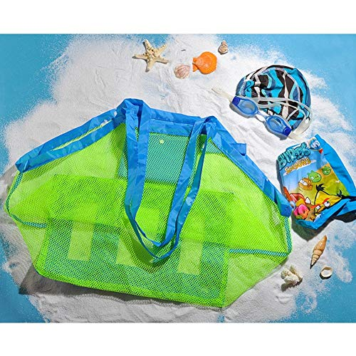 Sala-Tecco - Baby Children Beach Mesh Bag Children Beach Toys Clothes Towel Bag Baby Toy Collection Nappy Mommy Storage Bag Orgainizer ()