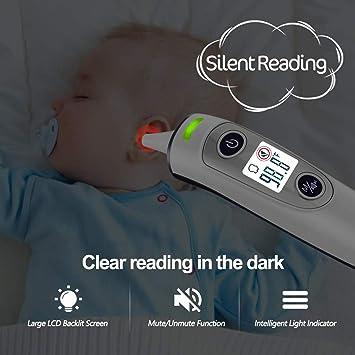 Amazon.com: AOKON - Termómetro 5 en 1 para oído y frente ...
