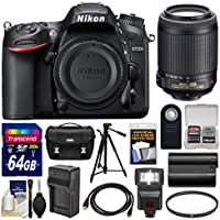 Nikon D7200 Wi-Fi Digital SLR Camera Body with 55-200mm VR II Lens + 64GB Card + Case + Flash + Battery/Charger + Tripod + Kit Advantages Review Image