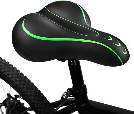 Sillín de bicicleta Cammate, sillín de bicicleta de tamaño grande, accesorios de repuesto universales impermeables para