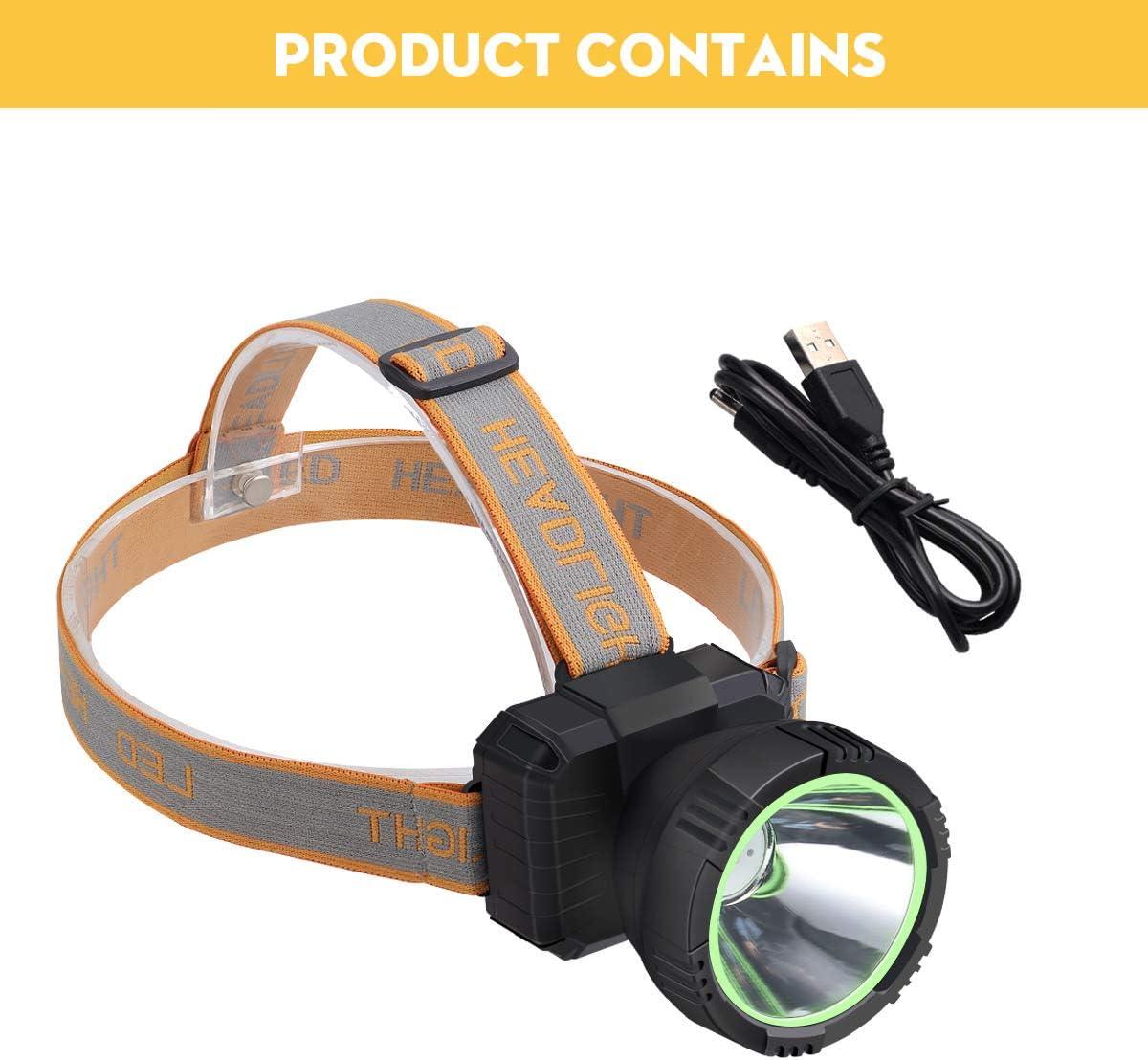 Fy-Light Smart Touch Sensitive LED Stirnlampe Wasserdicht Outdoor Stirnlampe USB Wiederaufladbare Taschenlampe f/ür Camping /& Reparatur