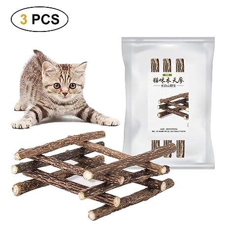 Umiwe Hierba gatera Catnip Matatabi, Natural Cuidado Dental Chew Catnip Sticks Juguete de Masticar Silvervine