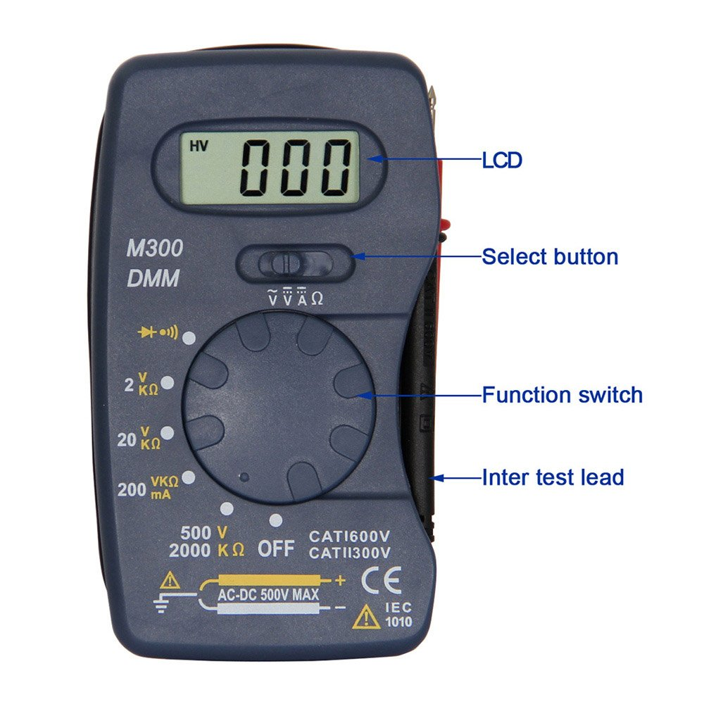 OLSUS M300 LCD Handheld Digital Multimeter for Home and Car - Blue by OLSUS (Image #5)