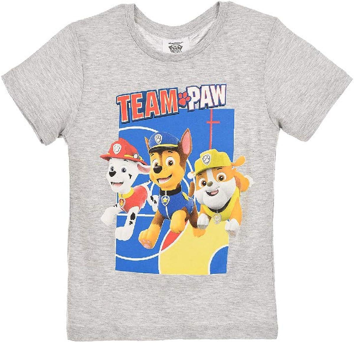 Kinder Kurzarm Shirt Paw Patrol Jungen T-Shirt