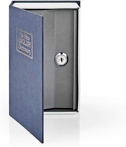 Mediana Ideal para guardar efectivo joyas y documentos monedas Caja fuerte de seguridad de acero fuerte con 2 llaves El nuevo diccionario ingl/és Invero Book Safe Portable Secret