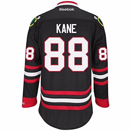 Amazon.com   Reebok Chicago Blackhawks NHL Patrick Kane  88 Black ... ab3e9064cdb