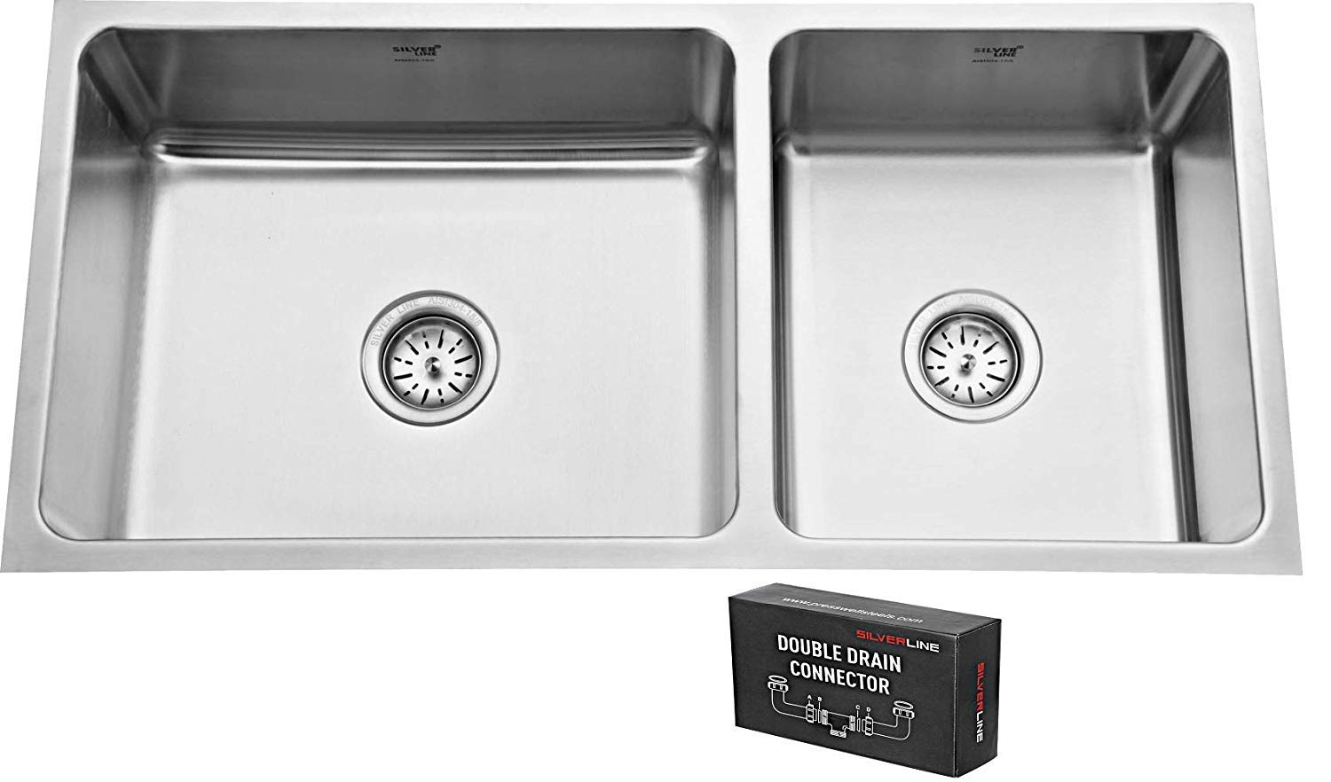 Silver Line Double Bowl Sink