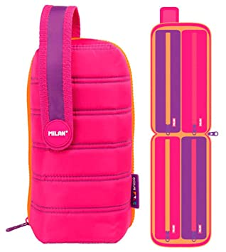 Estuche milan kit 4 estuches con contenido colours rosa: Amazon.es ...