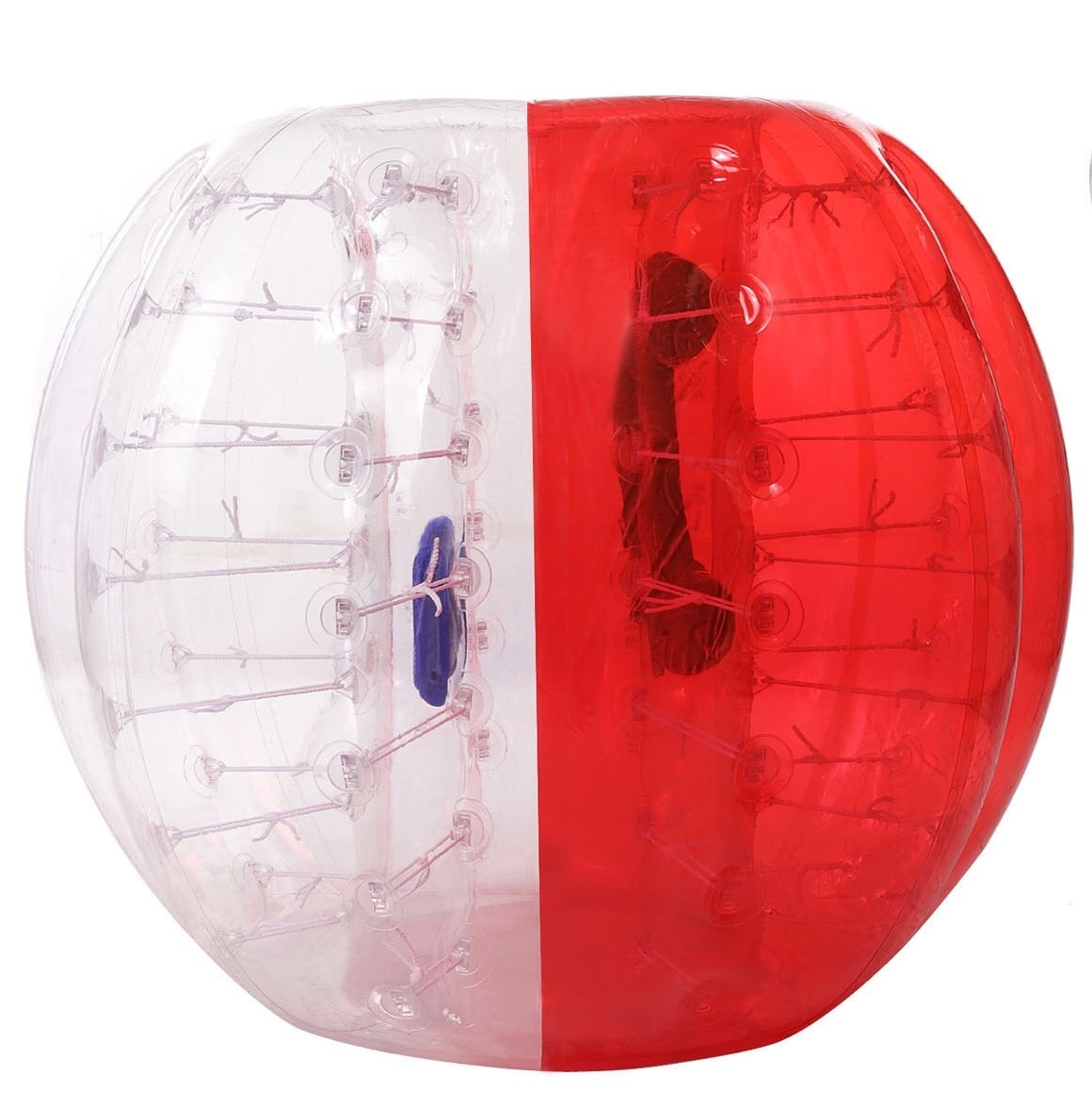 Oanon Inflatable Bumper Ball 1.2M 4FT/1.5M 5FT Diameter Bubble Soccer Ball Blow Up Toy, Inflatable Bumper Bubble Balls for Childs,teens,adults (White/Red 1.5M)