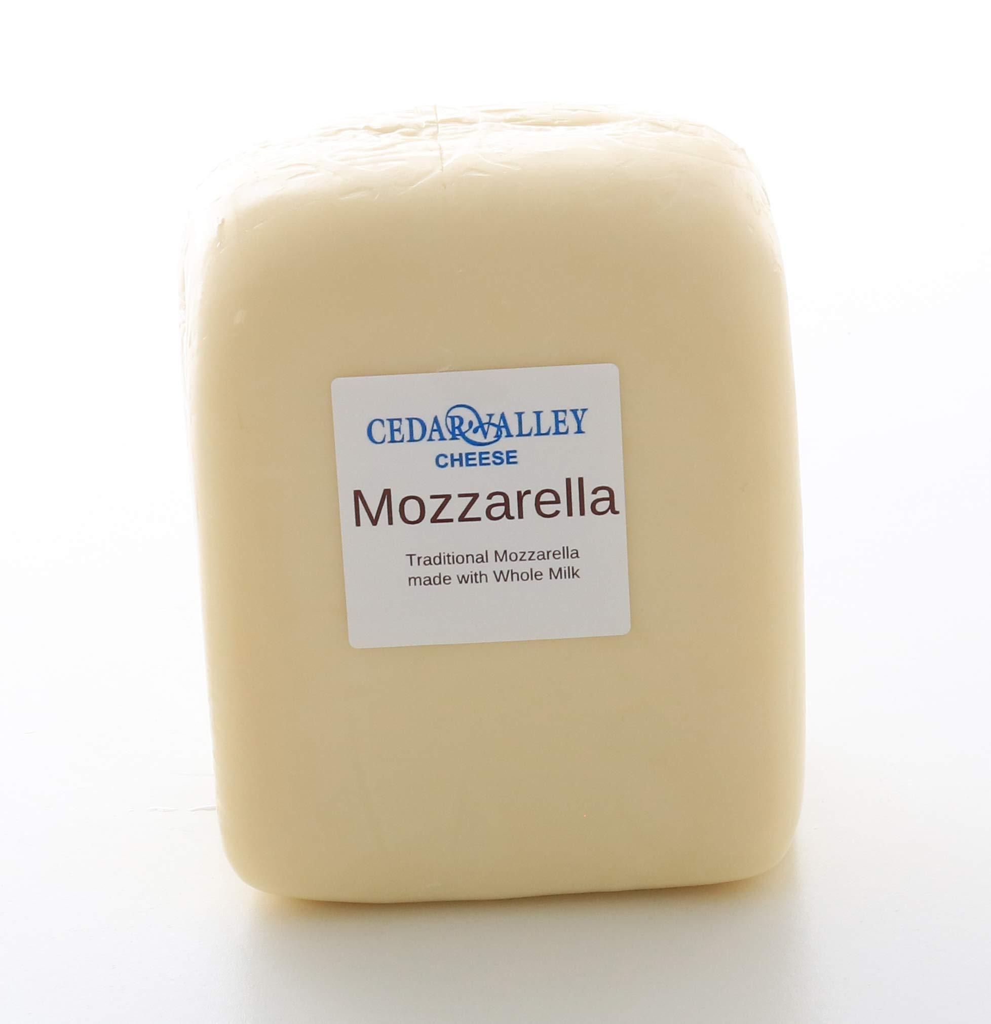 Mozzarella Cheese Whole Milk Low-Moisture 3 Lb Loaf