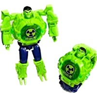Truvendor Enterprises Transformable Robot Toy Convert to Digital Wrist Watch for Kids Deformation Watch Figures Plus Watch (Character May Vary)