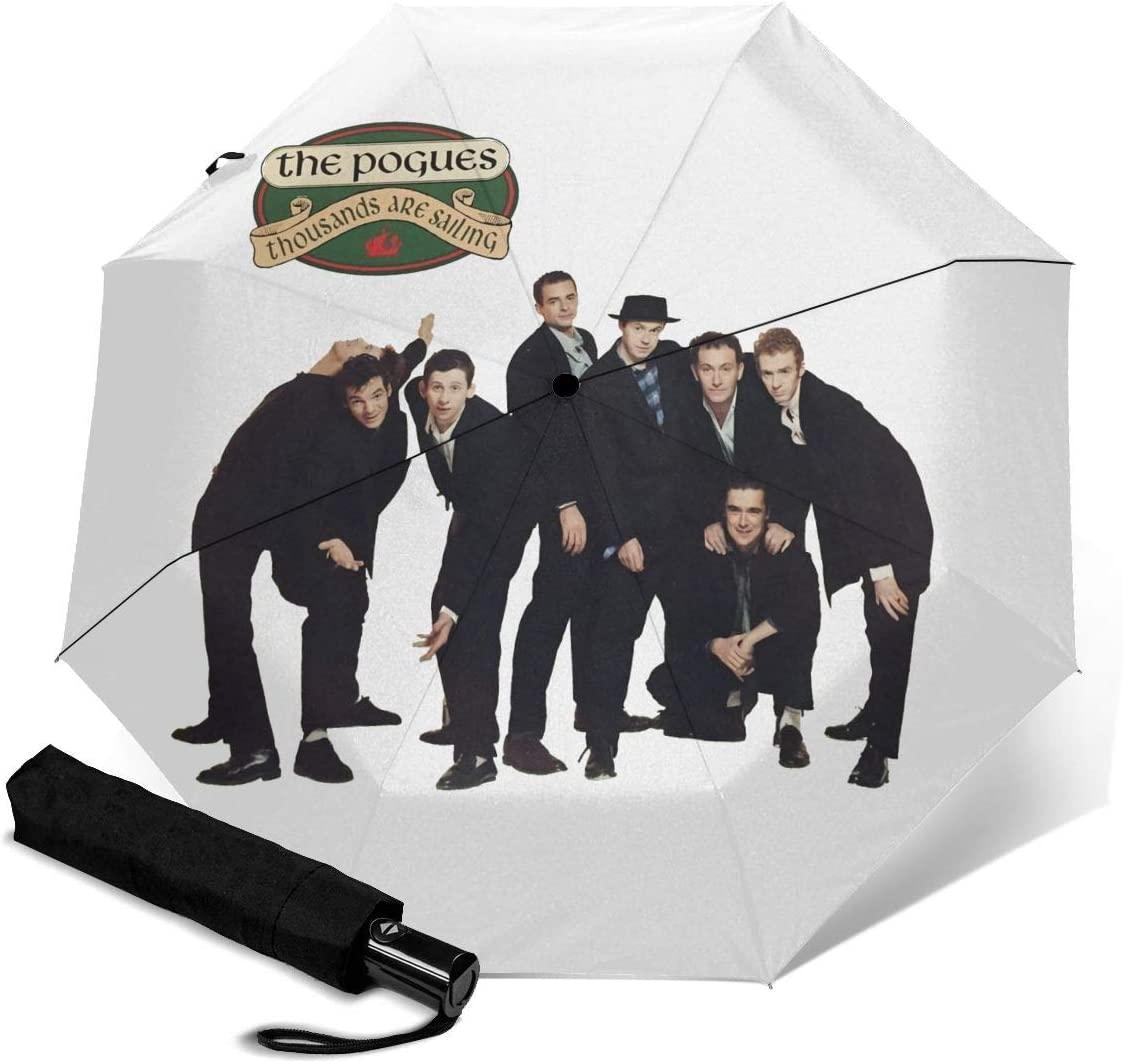 The Pogues Sun Protection Umbrella,Waterproof Travel Automatic Tri-fold Umbrellas