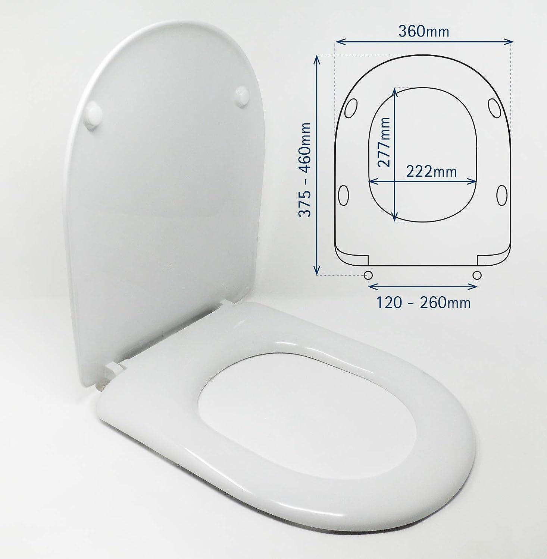 JOTOM Abattant WC Plastique de Haute Qualit/é Divers Mod/èles Facile Fixation Couvercle de Toilette Si/ège Coccinelle