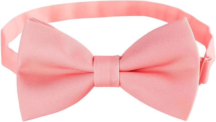 White Men Adjustable Pre-tied Bow Ties Groom Formal Tuxedo Bowties in Solid Color By Kajeer