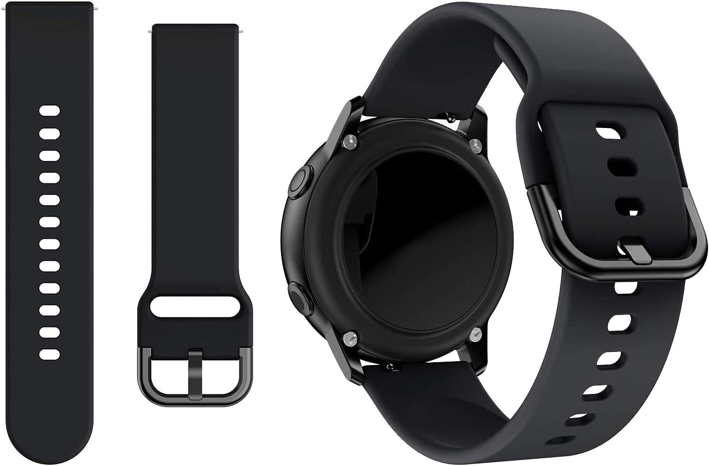 kitway Correa Compatible Galaxy Watch Active/Active2/Galaxy Watch 42mm/Gear S2 Classic, 20mm Silicona Replacement Correa para Galaxy Watch Active (40mm)/Active 2 40mm 44mm Smart Watch