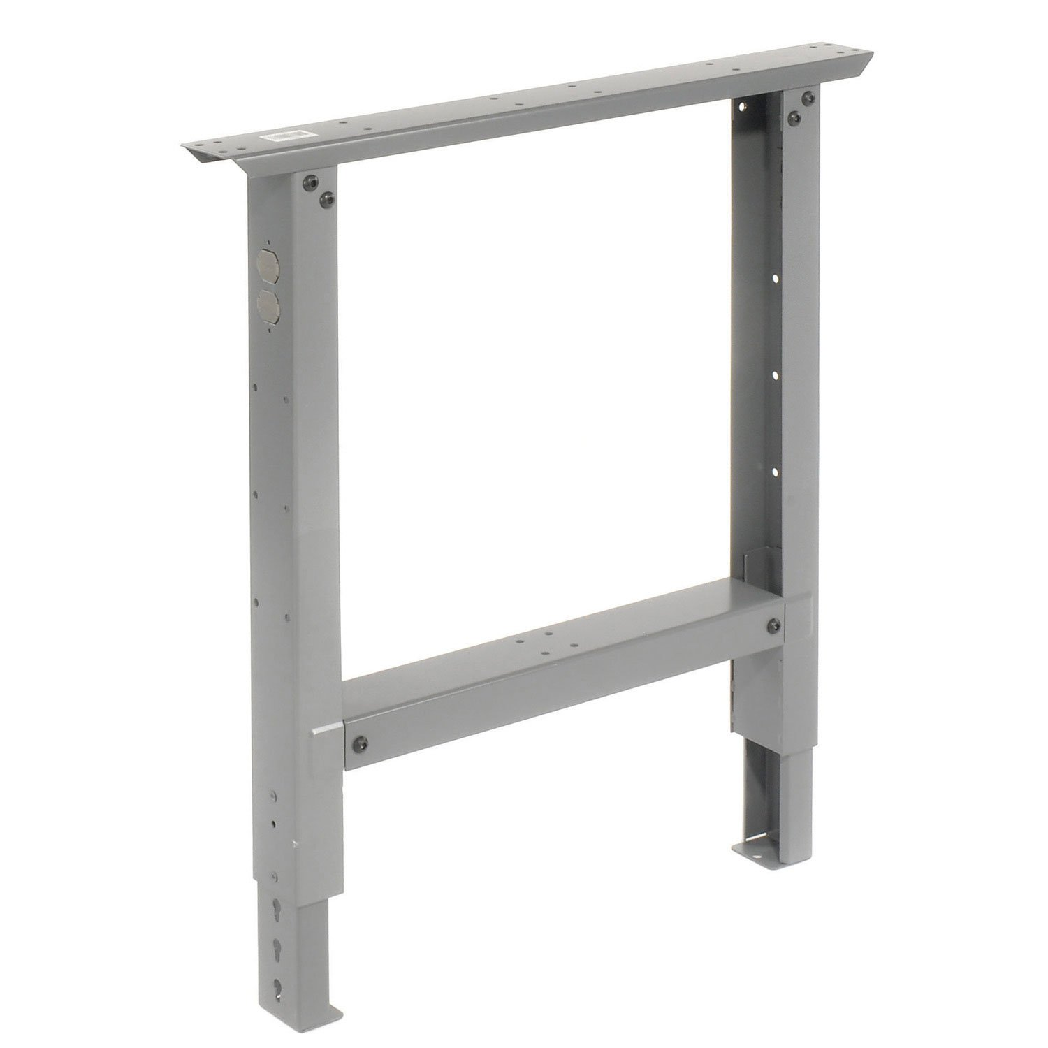 Adjustable Height Leg For 30'' Benches, 27-7/8 To 35-3/8, Gray