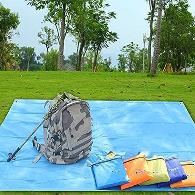 UNAKIM-2017 Portable Outdoor Camping Beach Picnic Cushion Canopy Tent Sun Shade Shelter