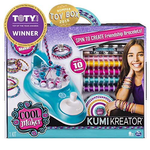 Cool Maker, KumiKreator Friendship Bracelet Maker, Makes Up to 10 Bracelets, for Ages 8 and Up]()
