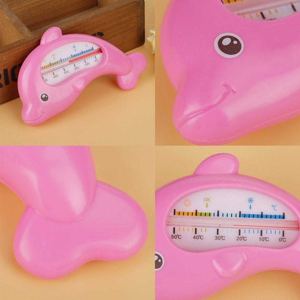 Baby Badethermometer Wasserthermometer und Badespielzeug Baby Bad Schwimmthermometer Spielzeug Thermometer f/ür Sicherheit Bad Pflege Pink