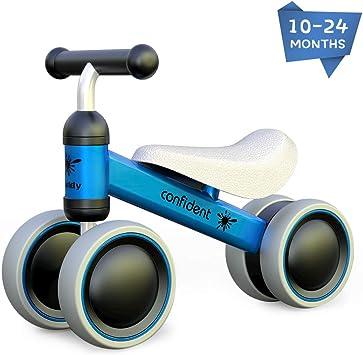 XIAPIA Bicicleta sin Pedales para Niños, Bicicleta Bebe 1 Año Bicicleta Equilibrio 1 Año Bicicleta Infantil sin Pedales de Forma Animal Lindo de Regalo Favorito del Niño (Azul): Amazon.es: Juguetes y juegos